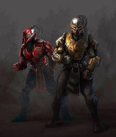Sektor and Cyrax by JacobslllLadder on DeviantArt Video Game Art, Video Games, Claude Van Damme, Mortal Kombat Xl, Liu Kang, Predator Alien, King Of Fighters, Marvel, Fighting Games