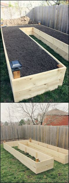 12 Well Designed Easy Access Raised Garden Beds Raised garden beds are easy on your back and will give your plants good drainage and generally better soil quality. By building this U-shaped garden bed, you'll also Veg Garden, Garden Boxes, Home And Garden, Vegetable Gardening, Easy Garden, Garden Planters, Fence Garden, Gardening Books, Diy Garden Box
