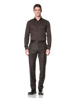 37% OFF Prada Men\'s Button-Up Shirt (Ebano)