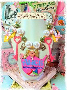Alice in Wonderland Tea Party Necklace by InsanelySweetJewelry
