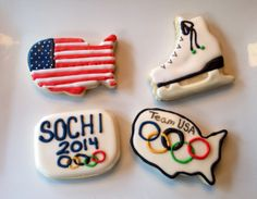 Sochi Winter Olympics 2014 cookies - Decorated Sugar Cookies by I Am The Cookie Lady