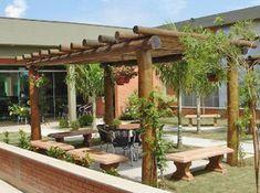 casa com telhado de eucalipto tratado - Pesquisa Google