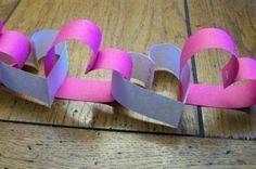 Schnelle DIY Party Dekoration aus Papier herzen lila rosa