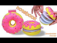How To Make a Donut Notebook – DIY Doughnut Notepad Tutorial Diy Craft Projects, Diy Crafts For Kids, Kids Diy, Decor Crafts, Donut Form, Beignets, Diy Donuts, Donut Decorations, Bff