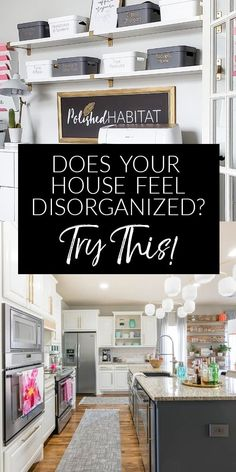 Ready for some easy home organizing ideas? I'll give you the simple formula for making every day a bit easier AND show you lots of examples from my own organized home. It used to be a mess but I figured out that small changes make a big difference! Declutter Your Home, Organize Your Life, Organizing Your Home, Home Organization Hacks, Organizing Ideas, Organising, Clutter Organization, Home Hacks, Smart Home