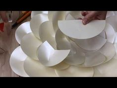 Camellia paper flower FREE video tutorial_how to make a free template paper flower_DIY paper flower - YouTube