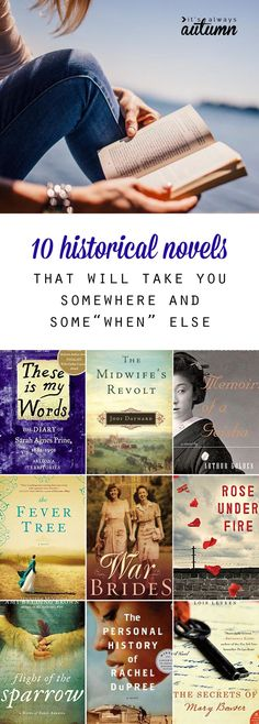 10 amazing historical novels that will take you to another place and time. I love finding new ideas for what books to read next! Great historical fiction.