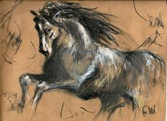 Cuidado - Lápices sobre papel madera. 30 x 24,5 cm - Alejandro Felli