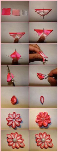 Friends Check this super ideas - DIY: Make Simple Ribbon Flowers – Step by step #K4craft #K4crafttutorials