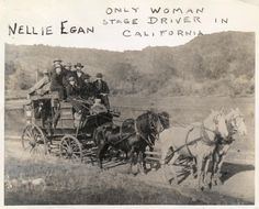 Nellie Egan - Only Woman Stage Drive in California (Date unknown)    Check out our picture catalog collections for more great photos!