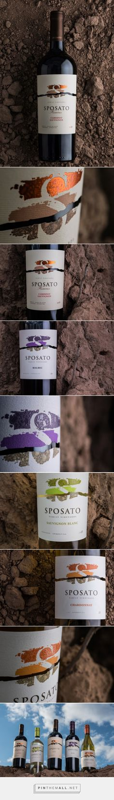 Sposato Family Vineyards - Packaging of the World - Creative Package Design Gallery - http://www.packagingoftheworld.com/2016/01/sposato-family-vineyards.html