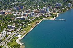 of Spencer Smith Park in [BP imaging - Bochsler Photo Imaging] Aerial Photography, Nature Photography, Burlington Ontario, Concrete Walkway, Commercial Photography, Canada Travel, Spencer Smith, Gta, Zodiac