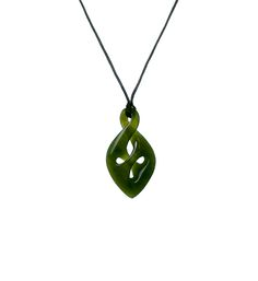 Traditional Green Jade Infinity/Twist Necklace : Mountain Jade New Zealand Maori Designs, Jade Green, New Zealand, Dog Tag Necklace, Infinity, Mountain, Traditional, Silver, Stuff To Buy