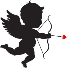 Fairy Silhouette, Silhouette Clip Art, Paper Christmas Decorations, Valentine Decorations, Cupid Drawing, Cupid Images, Fairy Tattoo Designs, Valentines Day Shirts, Rock Art