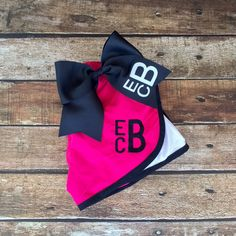 Monogrammed Cheer bow and Shorts Set, Girls and Ladies Sizes, Monogrammed Running Shorts and Cheer Bow, Cheer camp, Cheerleaders by PoshPrincessBows1 on Etsy