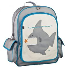 Another fun brand for the younger kids is Beatrix New York. Their backpacks are sized for ages 5-10 (with similar designs available in smaller packs for ages 2-5). Their other non-pink, non-girly designs are a blue whale, green frog, orange & brown monkey, green dinosaur, blue robot, and red ladybug. Not cheap at $52, but a brand of the stars...if you care about stuff like that :)