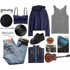 Aesthetic Ravenclaw outfit by blackcherrypie1 on Polyvore featuring polyvore, fashion, style, Monki, Levi's, WithChic and clothing