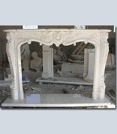 fireplace mantle.  Make from wood, add plaster of paris appliqués, paint.