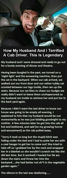 How My Husband And I Terrified A Cab Driver. This Is Legendary funny jokes story lol funny quote funny quotes funny sayings joke humor stories hilarious funny jokes Funny Pins, Funny Memes, Jokes, Funny Sayings, Can't Stop Laughing, Laughing So Hard, Haha, Cab Driver, It Goes On
