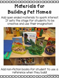 Tips to set up your blocks center for a pet theme {FREEBIE} Pocket of Preschool