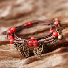 Leafs Long Bracelet Charm Jewelry Charm Jewelry Outfit Accessories From Touchy Style Bracelets With Meaning, Cute Bracelets, Braided Bracelets, Bracelets For Men, Handmade Bracelets, Vintage Charm Bracelet, Charm Jewelry, Teenager Fashion Trends, Jewelry Trends 2018