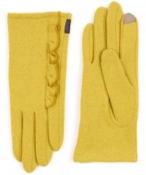 echo touch side ruffle gloves