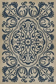pattern 36 common sense vinyl floor cloth | floor cloth