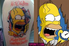 11 Extraordinarily Clever Simpsons Tattoos - 11 Points