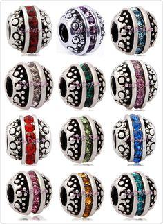 Birthstone Pandora beads! Want one for each child in their birthstone :)  (Josh -Topaz/Citrine) (Zach-Pearl/ Alexandrite)  (Zoe-Opal/tourmaline)