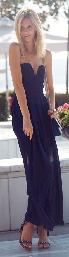 Plunge black maxi dress  GG's tiny times