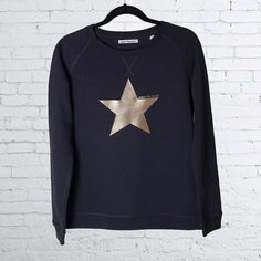 Meet Our Navy Sweatshirt with Gold Foil Star