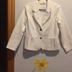 Vintage White Lilly Of California Jacket