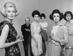 Main Bocher and five new Mainbochers Vogue, June 1961 by Irving Penn from left to righ Sunny Harnett Rousseau Mainbocher Isabella Albonico Anne St Marie Dorothy McGowan an d Anna Carin Bjorck 1960s Fashion, Vintage Fashion, Vintage Style, Vintage Glamour, Vintage Clothing, Vintage Dresses, Chicago History Museum, Irving Penn, Best Designer Brands