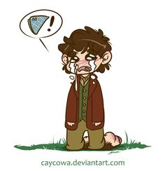 Bilbo misses his handkerchief. Prints are available on my Etsy here. This picture has products available on Society6. deviantArt / Tumblr / Twitter / Etsy / Storenvy / Society6 / Inkbunny Commissions...