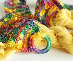 Rainbow Crochet Belt  Vintage style Adjustable Plus by SENNURSASA, $17.00