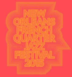 Fest design for French Quarter Jazz in New Orleans