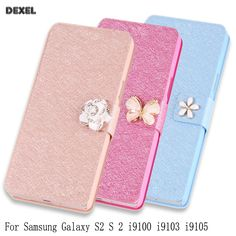 Phone Case for Samsung Galaxy S2 S 2 i9100 i9103 i9105 Case Original Flip Cover PU Leather Cover Case with stand Holder