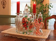 decorate kitchen island for Christmas
