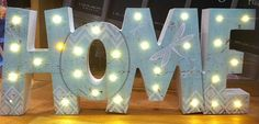 Light Up Words, Battery Operated, Lisa, Spirituality, Home And Garden, Make It Yourself, House, Collection, Decor
