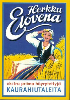 Elovena Banner, Vintage Packaging, Retro Ads, Travel Posters, Comic Books, Comics, Illustration, Albums, Cards