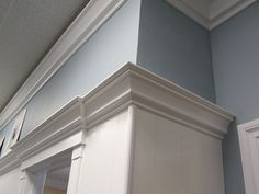 Crown Molding in a Office    Please Share, Repin and Like Thanks