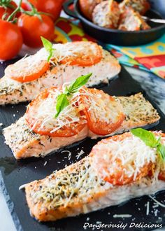 This Tomato Basil Salmon won our hearts from the first bite. It's super simple, gluten free and bursting with Italian flavor! A perfect weeknight meal that, from start to finish, takes 15 minutes! Whenever I say I'm making salmon for dinner, excitement is always heard from 4 of my children. One child, the same child …
