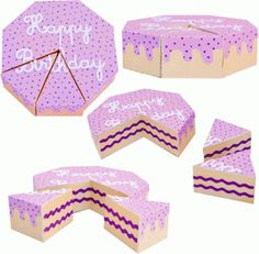 Silhouette Design Store - View Design #60498: 3d cake 2 slices cut out