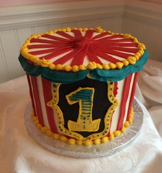 Buttercream Icing Only Circus Cake Sheet Cakes