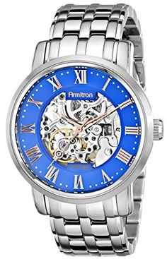 Armitron Men's 20/4919BLSV Stainless Steel Automatic Watch
