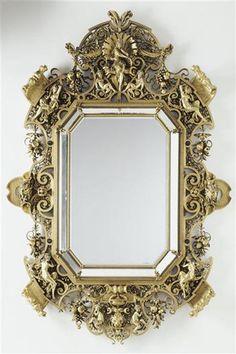 Miroir monumental par Constant Sévin, réalisé par la Maison Barbedienne en 1878. Conservé au Musée d'Orsay, Paris. © Musée d'Orsay.