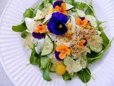 Raw on $10 a Day (or Less!): Summer Salad with Cucumber Dressing ~ a Raw and Vegan Recipe