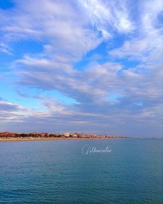 View of Rimini Beach from the Sea  #rimini #beach #beachlife #italy #seaview #riminibeach #cloudslovers #bluesky #happyday #mypicture #bluesea #sealovers #cloudscape #bluelovers #usa #europe #france #london #venezuela #germany #japan #brasil#brasil by moniadar