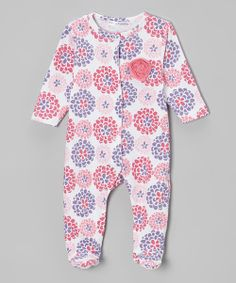 Adorned with an adorable appliqué, this snuggly footie will prep little ones for comfy travels to dreamland. Handy snap buttons along the front and leg make late-night diaper changes a breeze. 60% cotton / 40% polyesterMachine wash; tumble dryImported