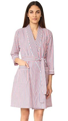 Get this SLEEPY JONES's bath robe now! Click for more details. Worldwide shipping. Sleepy Jones Thin Multistripe Isa Robe: A striped Sleepy Jones robe composed of crisp poplin. Piping trims the smooth lapels, and an optional tie secures the placket. Patch hip pockets. Fabric: Poplin. 100% cotton. Wash cold or dry clean. Imported, Poland. Measurements Length: 39.25in / 100cm, from shoulder Measurements from size S (albornoz, albornoz, bathrobe, robe, bademantel, bademantel, bata de baño…